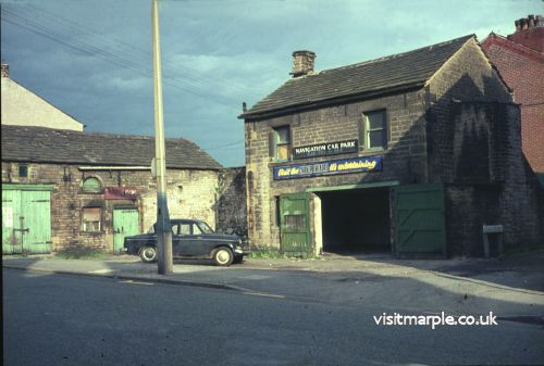 These old outbuildings belonging to the Navigation Hotel were photographed in the 1960s