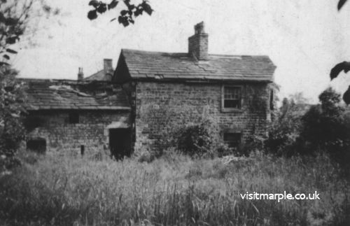 Tollgate cottage close to ruin in 1955