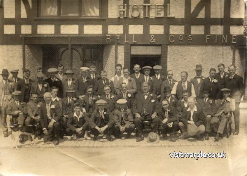 The large man at the centre of this shot outside the Crown is thought to be landlord Jabez Shaw