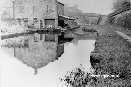 A vintage image of Marple Wharf: Junction of Peak Forest and Macclesfield Canals