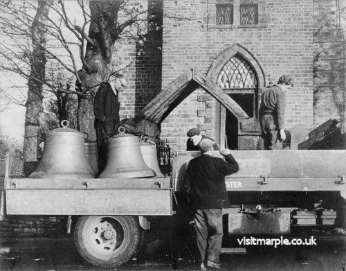 New and refurbished bells are delivered in 1964 ready for installation in the old Church Tower