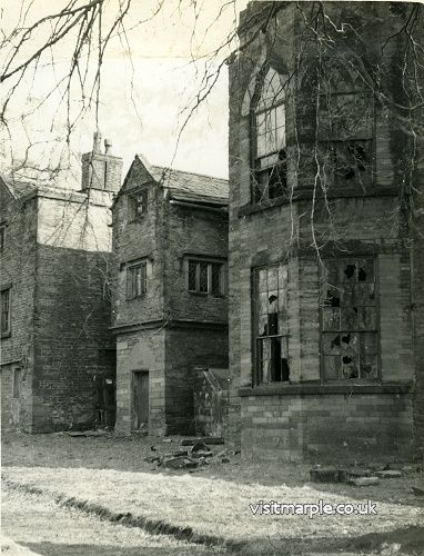 A rare photograph of the rear Marple Hall taken around 1947-53 by Peter Davis