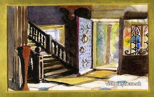 The painting of the hallway of Marple Hall described in the article.