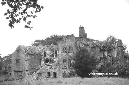 Marple Hall in Ruins