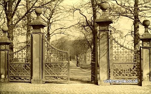 The Main Gates to Marple Hall on Stockport Road.