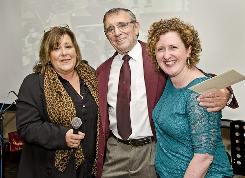 John Wright with Committee members Paula Smith and Rachel Rowe