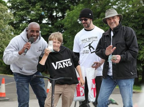 Skatepark Trophies Awarded at Marple Carnival