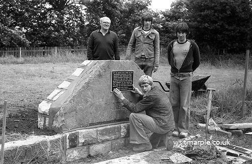 Marple Hall Date Stone 1981