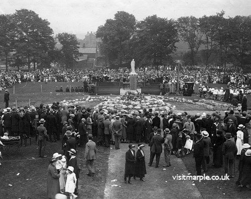 The dedication of Marple War Memorial in 1922