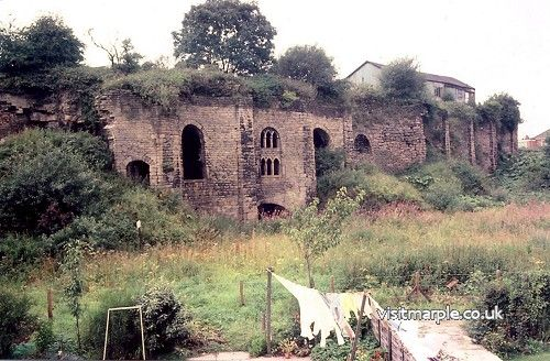 The Lime Kilns with the old British Legion still on top in 1970s