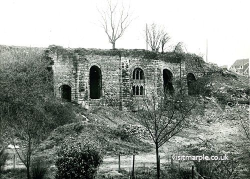 The Lime Kilns in the 1970s before bricking up