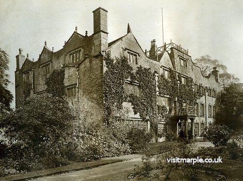 A fantastic view of Marple Hall from the west in 1919.
