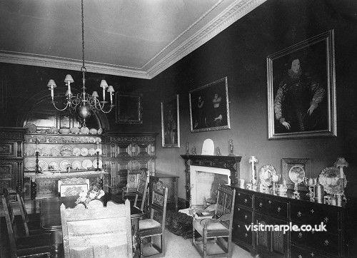 Marple Hall Dining Room in 1902.