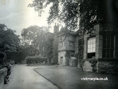 The rear terrace of Marple Hall in 1902