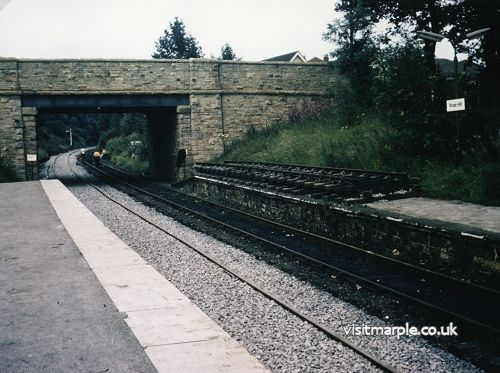 The Rose Hill line (at Rose Hill Station) being turned into a single line, taken by R P Smith in July 1980.