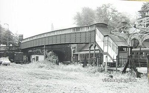 The entrance to the North Platform at Marple Station viewed from what is now the car park, taken in the late 1960s