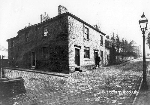 An early image of the junction of Church Lane and Chadwick Street.