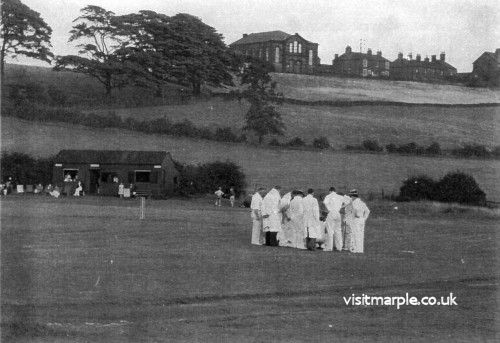 Cricket on the Green at Hawk Green.