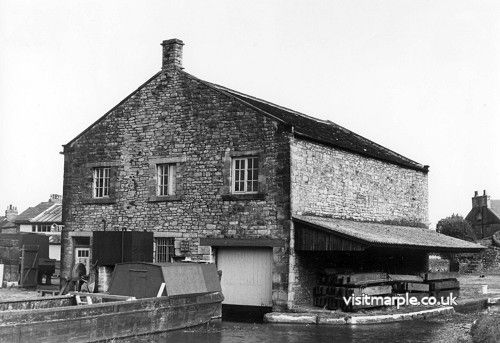 Marple Wharf in its working days, from Marple Local History Society Archives.