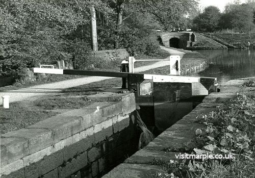 Lock number 5 on the Peak Forest Canal, late 1970s / early 1980s.