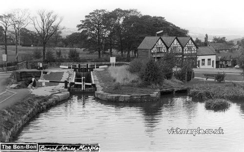 Late 70s or early 80s view of Lock 13 on the Peak Forest Canal.