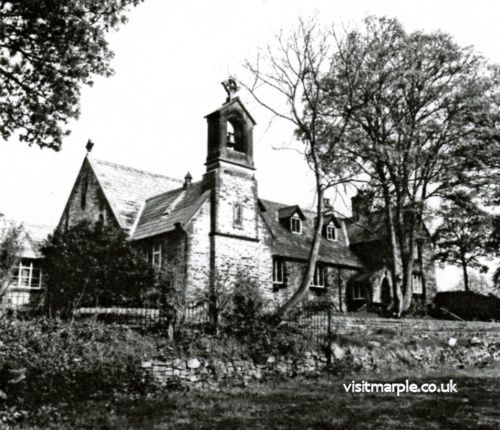 St. Mary's RC Church, Marple Bridge, from Marple Local History Society Archives.