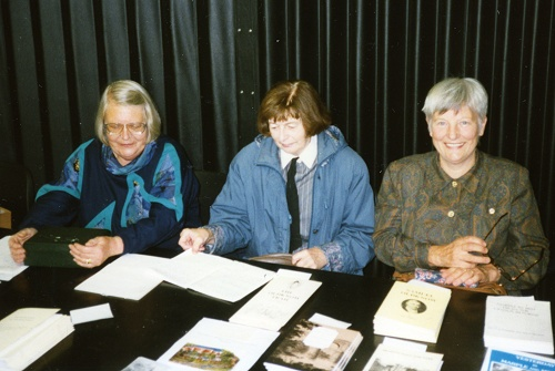 Audrey Featherstone (centre) with Kirsten Western (left) and Ann Hearle