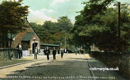 A view of Marple Station on Brabyns Brow, from Marple Local History Society Archives.