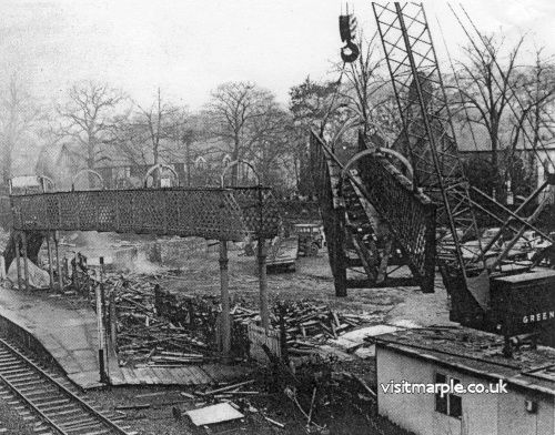 Demolition of Marple Station - March 1970.