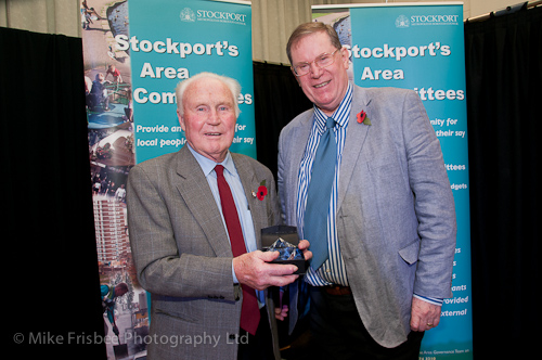 Alan with Cllr Martin Candler receiving an Environmental Champion Award.