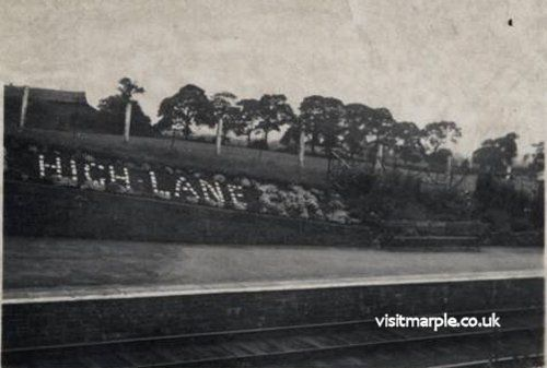 The handiwork of Jim Noble at High Lane Station in 1953