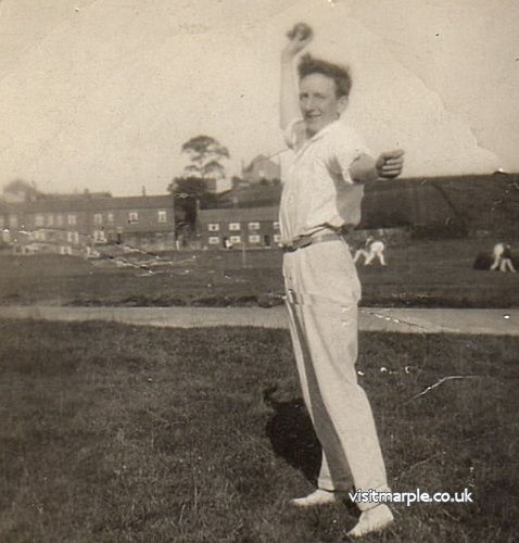 Arthur Nadin was a bowler for Hawk Green cricket club before and after WWII, 1939 to 1944.