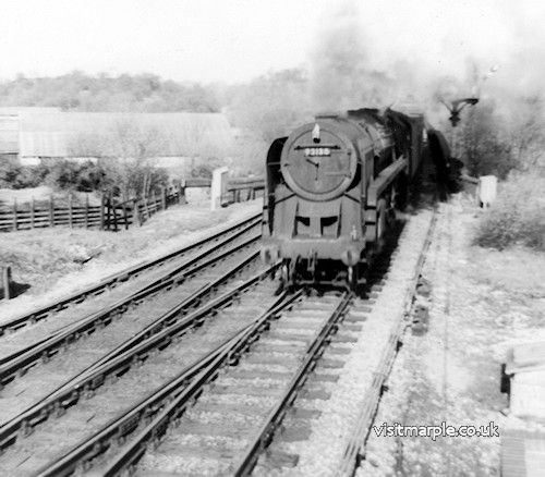Marple Wharf Junction. BR 9F 2-10-0 no. 92130.