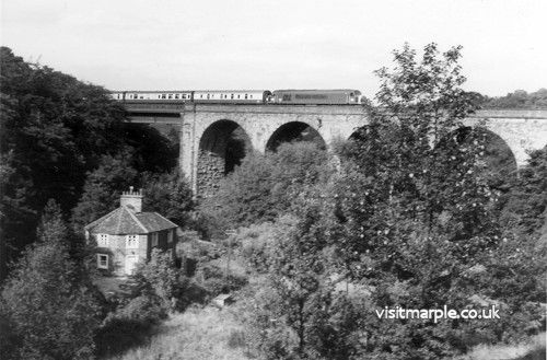 Marple Goyt Viaduct on 12 September 1978.