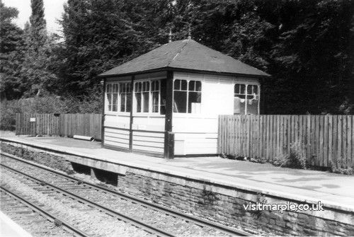 Marple Signalbox on the 12th September 1978 shortly before closure in July 1980.