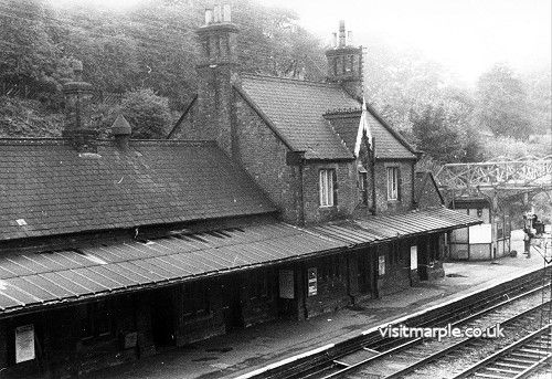 Marple Station on 2 August 1969.