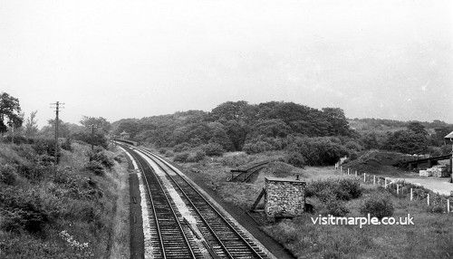 Site of the Middlewood Curve from High Level Junction in 1962. Part of the curve, closed in 1955, remains as a siding from Low Level Junction.