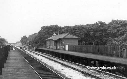 Middlewood Higher Station from the south in 1962, 2 years after closure.