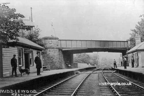 Middlewood Low Level Station form the East c1910