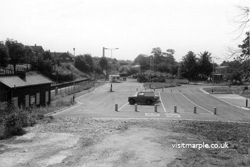 Rose Hill Station car park on 11 September 1978.