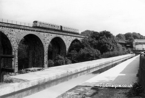 Marple Viaduct from the NW on 12 September 1978.