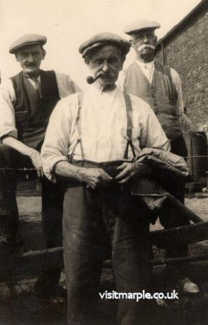 Men of Hawk Green: Jim Turner, Bill Pott and A.N.Other.