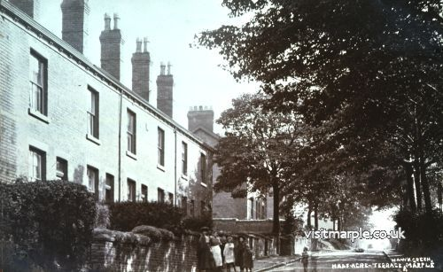 Half Acre Terrace, Upper Hibbert Lane - Looking up towards the Green.