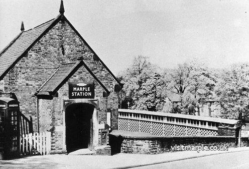 Marple Station Entrance off Station Road.