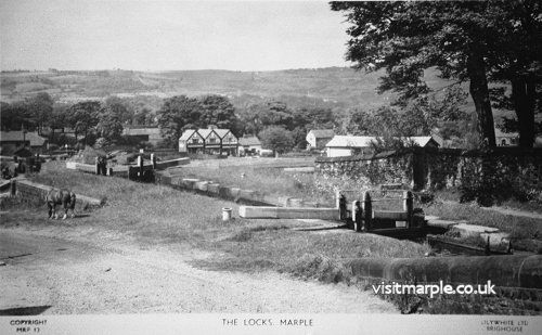 A very attractive and peaceful view of Top Lock, not very different today apart from the motor cars of course.