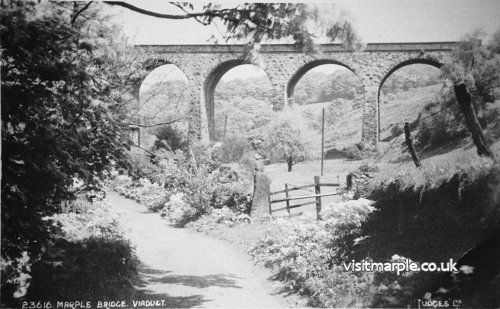 The Railway Viaduct at Roman Lakes viewed from the direction of Roman Bridge.
