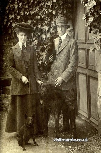 Henry Bradshaw-Isherwood and wife Muriel (nee Bagshawe)  c1907