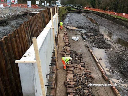 Following casting of the concrete retaining wall – February 2017.